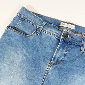 Free People Mid Rise Cropped Jeans 29 Blue Contras